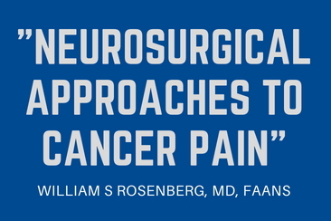 Neurosurgical Approaches To Cancer Pain
